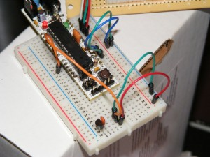 Close up on the Breadboard