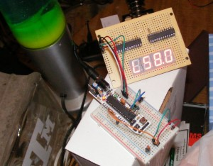 Overview of Thermometer + 7 segment display